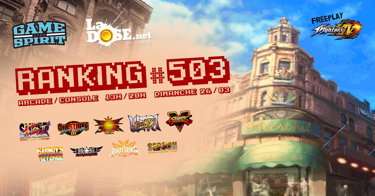 Ranking #503 - Dim. 26 mars