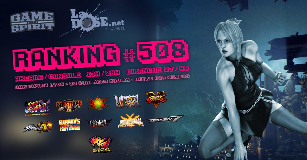 Ranking #508 - Dimanche 27 août